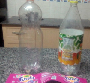wash plastic bottles